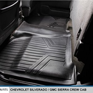 SMARTLINER Floor Mats 2 Row Liner Set Black