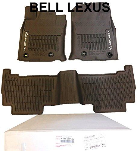 Lexus OEM Factory All Weather Floor MAT Liner Set 2016-2019 GX460 Brown