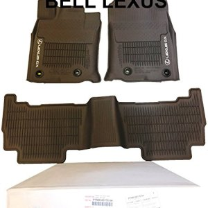 Lexus OEM Factory All Weather Floor MAT Liner Set 2016-2019 GX460 Brown
