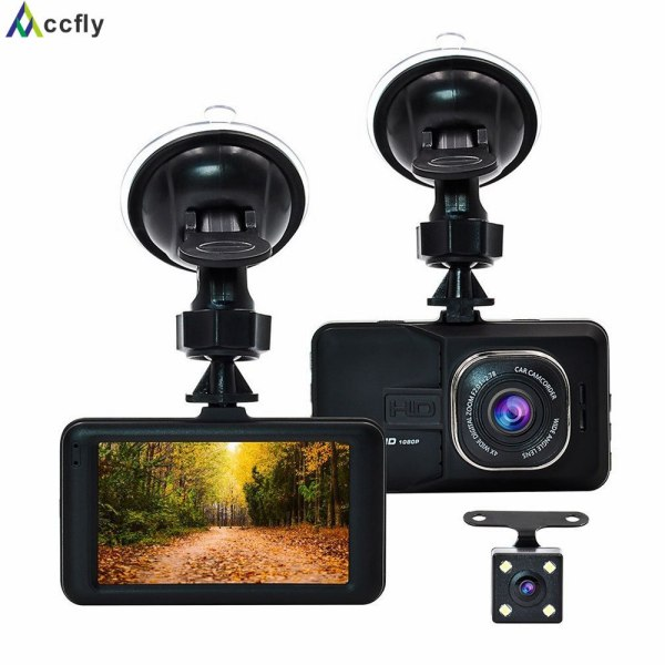 Dash cam car DVR front and rear camera twin lens