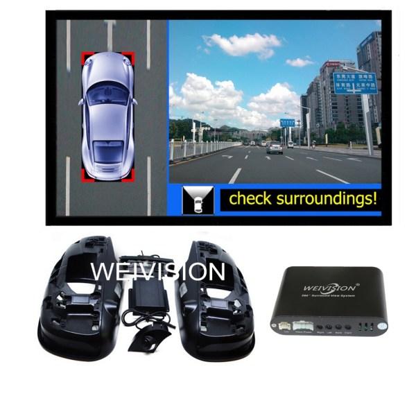360 Degree bird View Car DVR Record, parking System