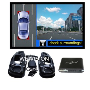 360 Degree bird View Car DVR Record, parking System