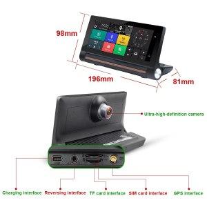 Android 5.0 dash cam Auto recorder Dual Lens cameras FHD 1080p