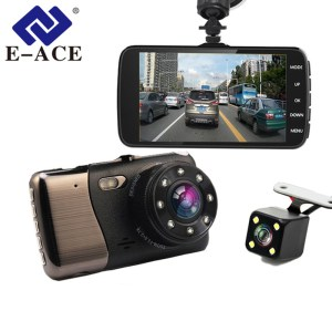 FHD 1080P Dual Lens Dash Cam With Car Distance Warning