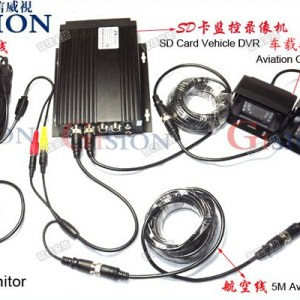 Free DHL Car DVR Vehical DVR kit, H.264, PC Play Back