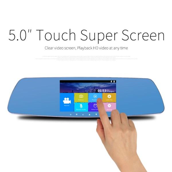 5 inch Touch screen Car dvrs FH 1080P Dual Lens Car Camera Super night vision