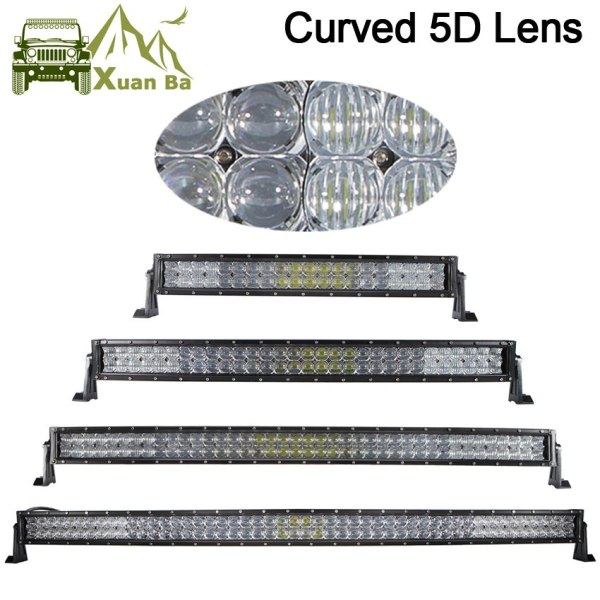 500W Curved Led Light Bar For 4x4 Off Road