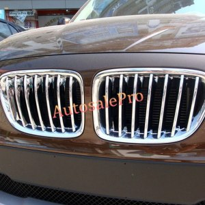 For BMW X1 E84 2009 - 2015 Chrome Front Center Racing Grille