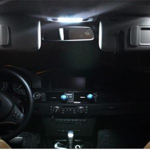 22 pcs For BMW X5 E53 2000 - 2006 white LED Light Dome Map Mirror Trunk License Plate Reading Lamp Interior Kit Package
