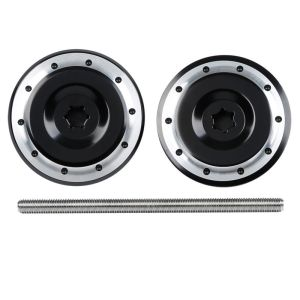 Black Anodized Radial Rear Axle Plugs For BMW K1200RS K1300R R Nine