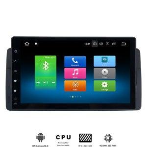 "9"" IPS screen Android 8.0 Car GPS For BMW e46 M3 318i 320i Radio Navi"