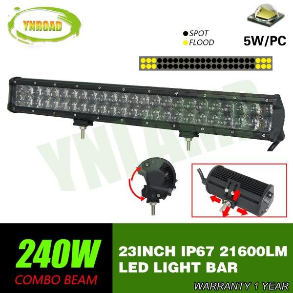 23inch Led Light Bar 4D optical lens work light
