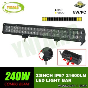 23inch Led Light Bar 4D optical lens work light