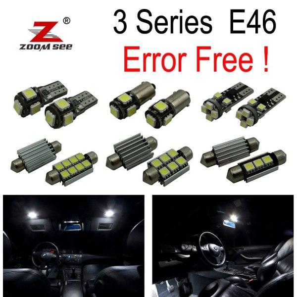 LED Bulb Interior lights full Kit for bmw E46 sedan Saloon Coupe 328i 330i 330xi