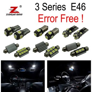LED Bulb Interior lights full Kit for bmw E46 sedan Saloon Coupe 328i 330i 330xi