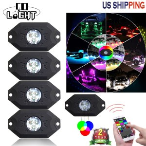 CO LIGHT 4 Pods RGB Running Lights with Bluetooth Controller Remote Multicolor