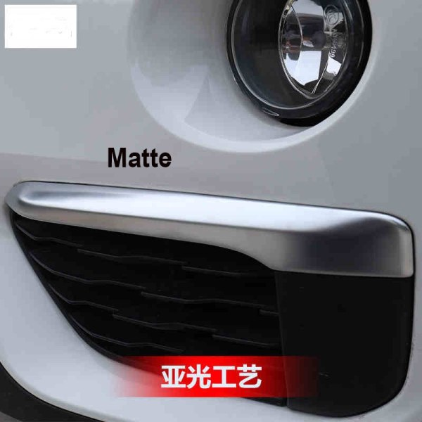 Chrome Front Fog Light Lamp Eyelid Stripe Cover Trim For BMW X1