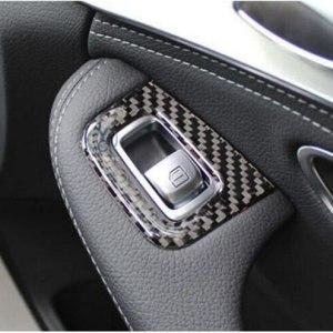 Mercedes Benz C Class Lift Button Cover Trim Carbon Fiber