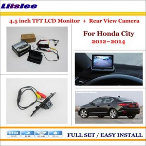 "Liislee For Honda City 2012~2014 In Car 4.3"" Color LCD Monitor + Car Rear Back Up Camera = 2 in 1 Park Parking System"