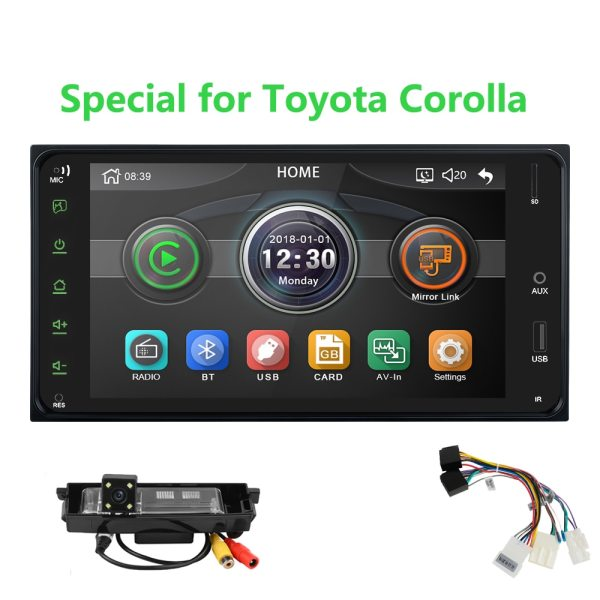 Universal Car Multimedia player 2 din car radio 7 Inch mirror link Andorid 8 Bluetooth/USB/rearview camera For Toyota Corolla