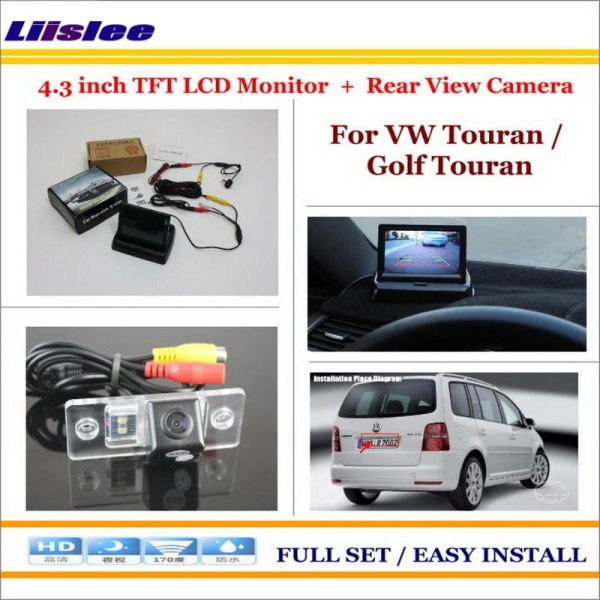 """Liislee For Volkswagen VW Touran / Golf Touran - 4.3"""" TFT LCD Monitor + Car Rearview Back Up Camera = 2 in 1 Car Parking System"""