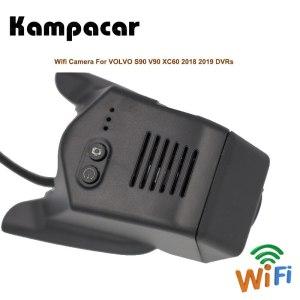 Kampacar Car Dvr Wifi Registrator Dash Cam Video Camera Rearview For Volvo S90 V90 XC60 T4 T5 T6 2018 2019 Two Car Recorder DVRs
