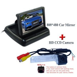 """Suitable for Volkswagen PASSAT B5/Jetta/Touran/Caddy shcok-proof car rear camera with In-Dash 4.3"""" car monitor 800*480"""