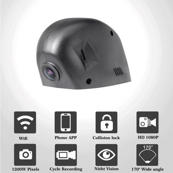 For Volkswagen Golf 7 Car Driving Video Recorder DVR Mini Wifi Camera 1080P Dash Double recording Cam