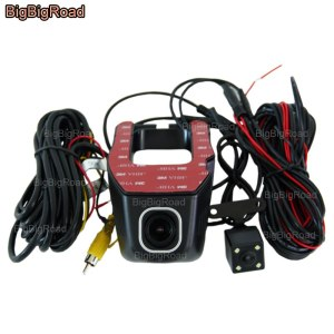 BigBigRoad For toyota rav4 rav 4 wish Levin Reiz Previa vios Car Wifi DVR Car Video Recorder Dash Cam Dual Cameras
