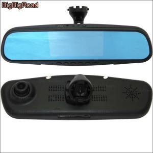 BigBigRoad For golf Car DVR Blue Screen Dual Lens Driving video registrator Dash Cam Parking Monitor with Special Bracket