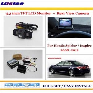 "Liislee For Honda Spirior / Inspire 2008~2012 Car Rear Camera + 4.3"" TFT LCD Screen Monitor = 2 in 1 Back Up Parking System"