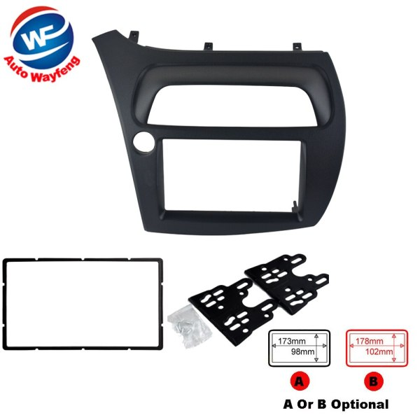 DVD Stereo CD Panel Double 2 Din Fascia Fit For Honda Civic Radio Dash Mounting Installation Trim Kit Frame Bezel for Civic