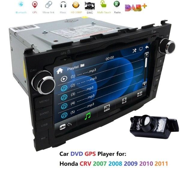 "8"" HD Stereo DVD Player GPS NAVI Car Dash Radio Camera for HONDA CRV 2007-2011 GPS/RDS/USB/SD/SWC/BT/CAM IN/Subwoofer/Output/DAB"