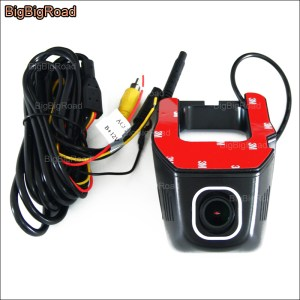 BigBigRoad For Peugeot 408 App Control Car wifi DVR Driving Video Recorder Hidden installation Novatek 96655 Dash Cam
