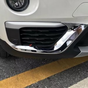 Fog Light Eyelid Stripe Cover Trim BMW X1 F48 2016-2017