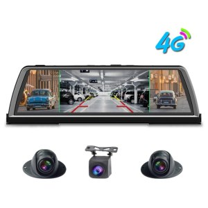 "Zuczug 360-degree panoramic dashboard car dvr dash cam 4CH Cameras recorder 10"" Touch Android rear view mirror GPS ADAS WIFI"