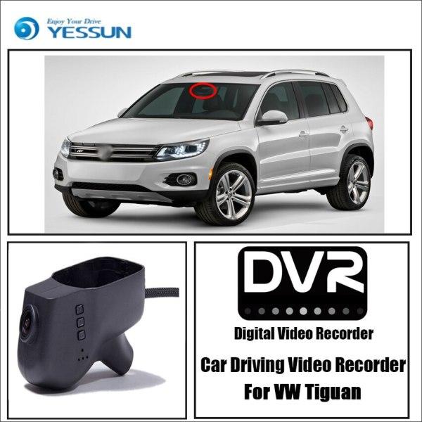 YESSUN for Volkswagen Tiguan Car DVR Driving Video Recorder Mini Control APP Wifi Camera FHD 1080P Registrator Dash Cam