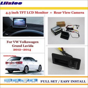 """Liislee For VW Volkswagen Grand Lavida 2012~2014 Back UP Reverse Camera + 4.3"""" LCD Monitor = 2 in 1 Rearview Parking System"""