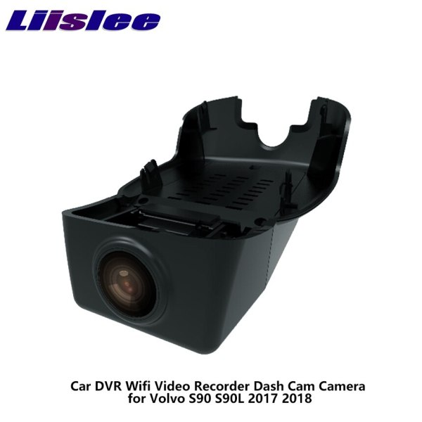 LiisLee Car DVR Wifi Video Recorder Dash Cam Camera for Volvo S90 S90L 2017 2018 Night Vision APP Control Mobile Phone 1080P