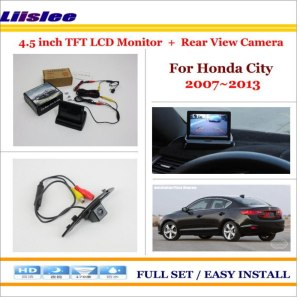 "Liislee For Honda City 2007~2013 Auto Rear View Camera Back Up + 4.3"" LCD Monitor = 2 in 1 Parking Assistance System"