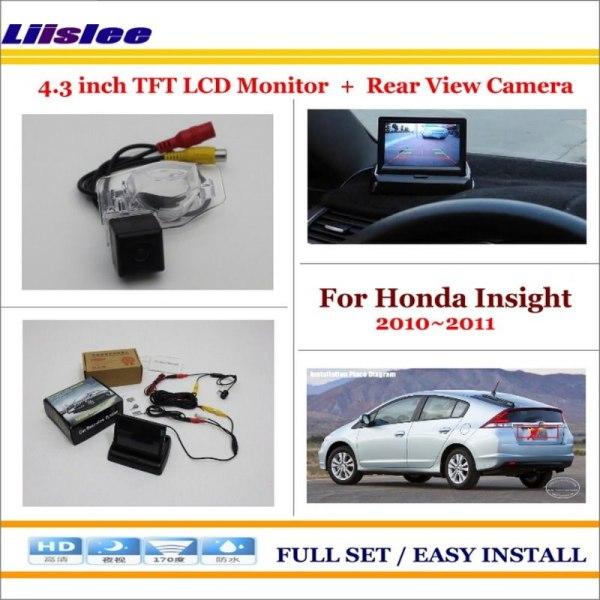 "Liislee For Honda Insight 2010~2011 Car Rear Camera + 4.3"" TFT LCD Screen Monitor = 2 in 1 Back Up Parking System"