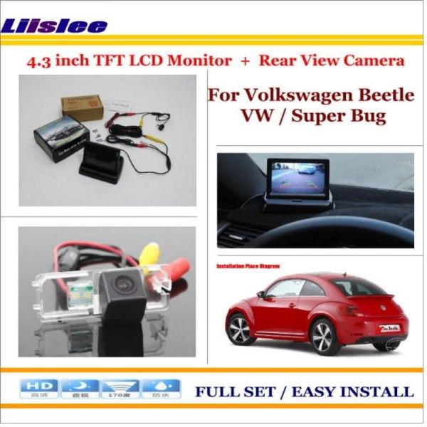 "Liislee For Volkswagen Beetle VW / Super Bug - In Car 4.3"" Color LCD Monitor + Car Rear Back Camera = 2 in 1 Park Parking System"