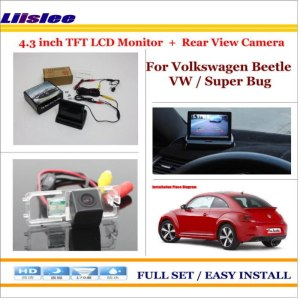 "Liislee For Volkswagen Beetle VW / Super Bug - In Car 4.3"" Color LCD Monitor + Car Rear Back Camera = 2 in 1 Park Parking System"