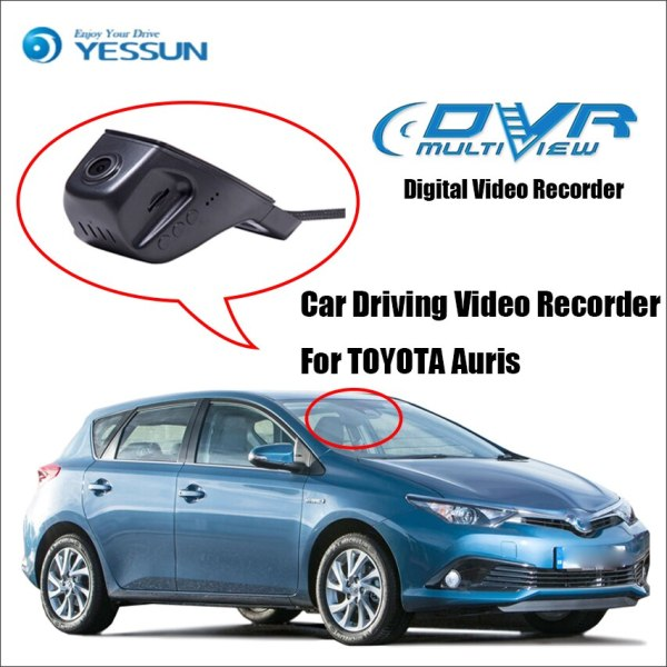 YESSUN Car DVR Digital Video Recorder For TOYOTA Auris - Front Camera Dash - HD 1080P Not Reverse Parking Camera