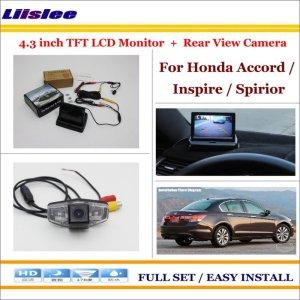 "Liislee For Honda For Accord / Inspire / Spirior 2003~2007 Car Reverse Rear Camera + 4.3"" LCD Monitor = 2 in 1 Parking System"