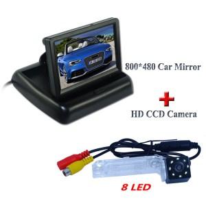 "High night vision car parking camera shock-proof bring 8 led+4.3""car screen display for Volkswagen PASSAT B5/Jetta/Touran/Caddy"