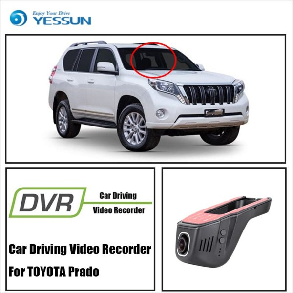 YESSUN for TOYOTA Prado Car DVR Digital Video Recorder Front Camera Dash Black 1080P Not Reverse Parking Camera Box HD