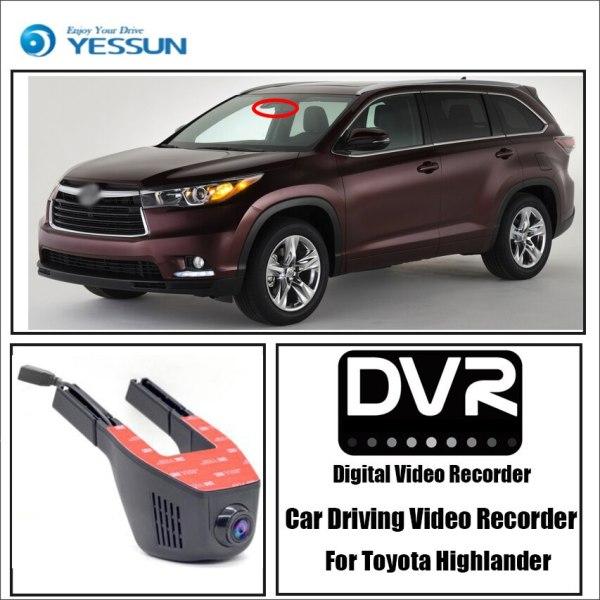 YESSUN for Toyota Highlander Car Mini DVR Wifi Camera Driving Video Recorder Novatek 96658 Registrator Dash Cam