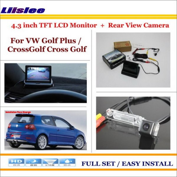 "Liislee For VW Volkswagen Golf Plus / CrossGolf Cross Golf - Car Parking Camera + 4.3"" LCD Monitor NTSC PAL = 2 in 1 System"