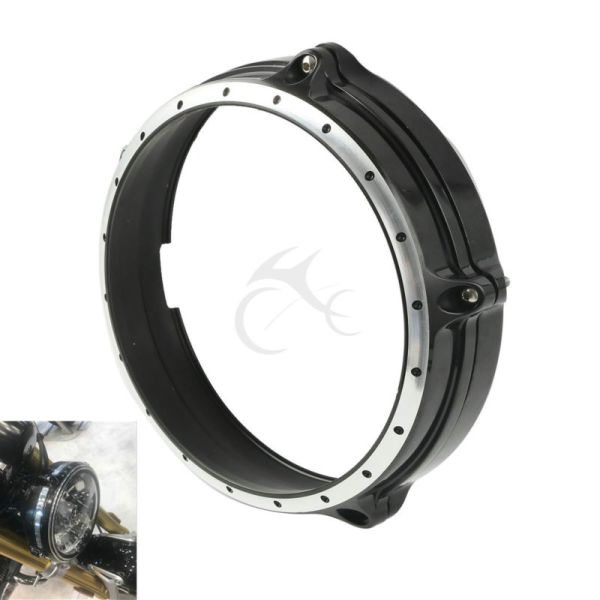 "Motorcycle 7"" Headlight Lamp Bezel Trim Ring For BMW R Nine T ABS 2014-2016"